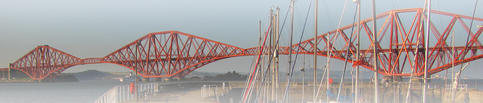 Forth Rail Bridge in Scotland